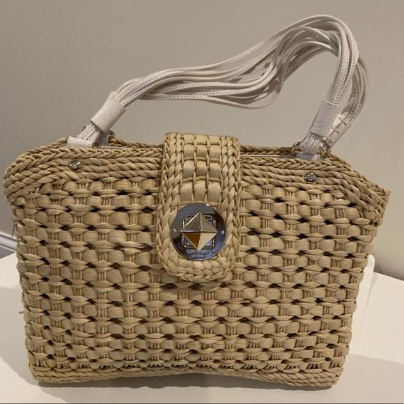 2d8dae2217e4 kate spade Handbags - KATE SPADE Natural Basket weave bag